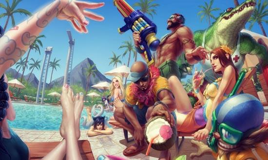 lol国庆泳池系列皮肤发售
